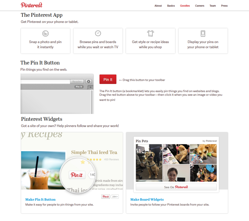 pinterest widget and pinterest button