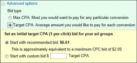 adwords cpa